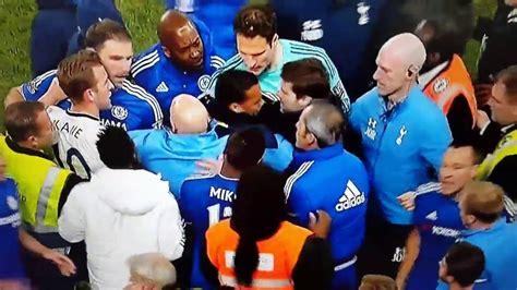 Diego Costa fight~~Chelsea vs Tottenham Hotspur 2016 ...