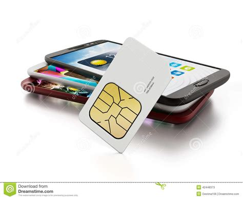 sim card with smartphones stock photo image 42448373