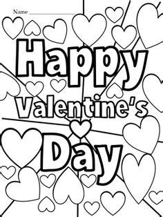 Happy Valentine's Day Flowers Coloring Page | Valentines