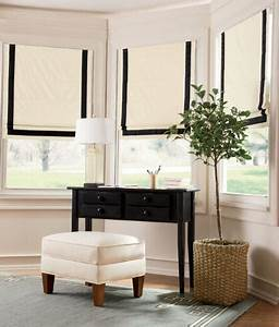 Look for less banded roman shades effortless style blog for Curtains that look like roman shades