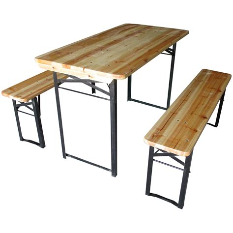 folding table with bench large outdoor folding table bench set trestle garden