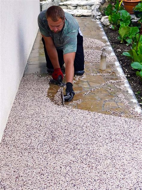 Granulat De Marbre Pour Une Terrasse En Résine