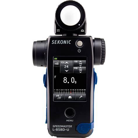 sekonic light meter sekonic speedmaster l 858d u light meter 401 858 b h photo