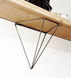 Etagere Murale Triangle : jeu de 2 querres bf 04 pour tag re en acier brut pour une d coration g om trique minimaliste ~ Teatrodelosmanantiales.com Idées de Décoration