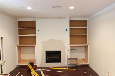 cabinets next to fireplace built in fireplace and cabinets tutorial dream book design