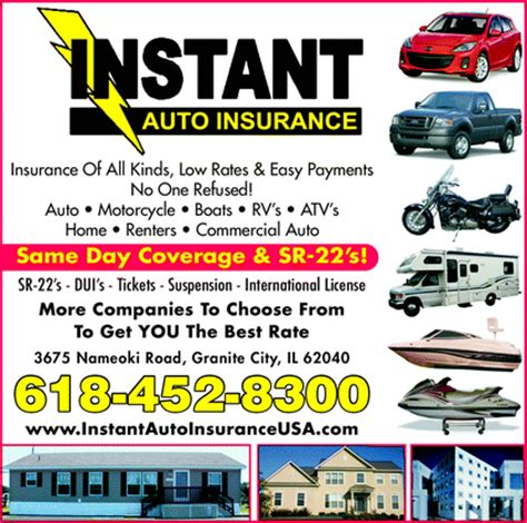 Instant Car Insurance by Instant Auto Insurance Granite City Il 62040 Yellowbook
