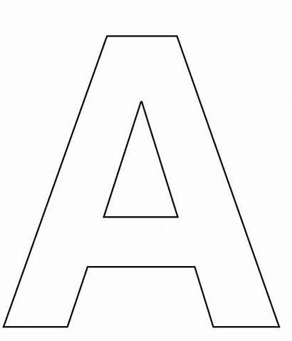 Letter Template Cut Alphabet Coloring Preschool Crafts