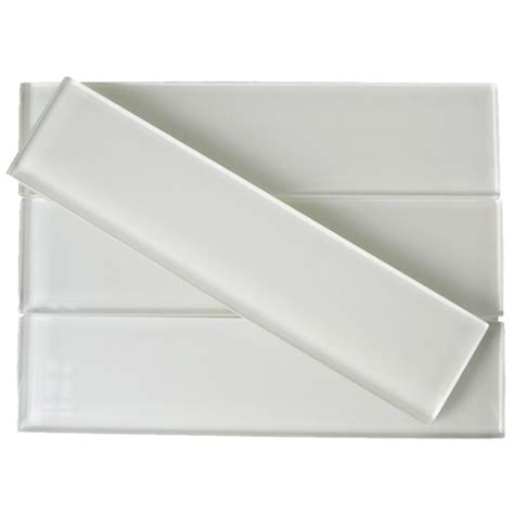 2x8 subway tile white shop for loft white 2x8 polished glass tiles at