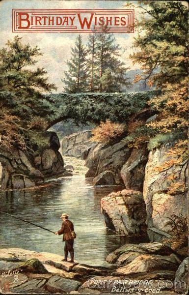 birthday wishes  man catching fish  pont  pair bridge