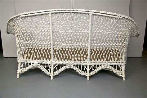 vintage settee for antique bar harbor wicker sofa at 1stdibs 6862