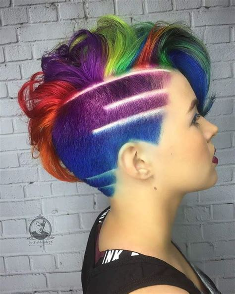 Rainbow Hair Delight Ntests Hair Tattoos Hair