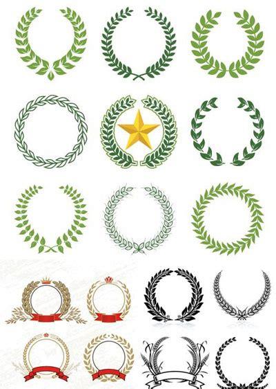 laurel wreaths patterns  vector art