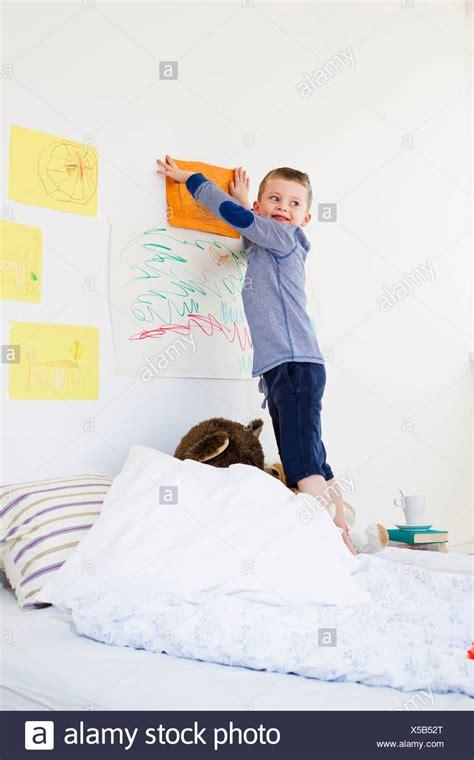 Bedroom Wall Drawings by Boy S Bedroom Wall Bed Stock Photos Boy S Bedroom Wall