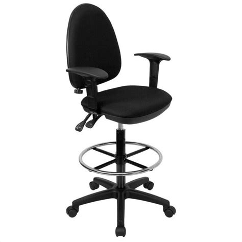 Drafting Chair With Arms by Mid Back Drafting Chair With Arms In Black Wl A654mg Bk