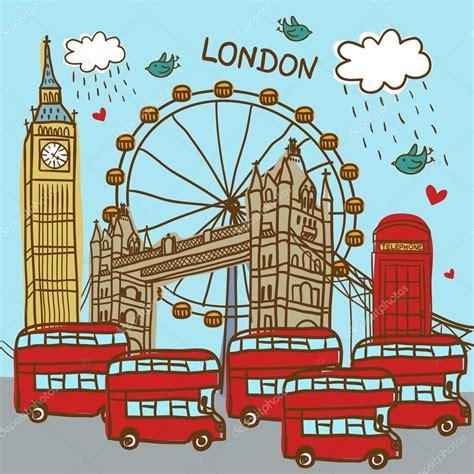 london england city background stock vector