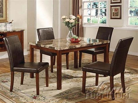 acme furniture acme  portland faux marble top dining