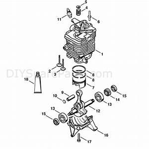 Stihl Br 500 Backpack Blower  Br 500  Parts Diagram  Cylinder