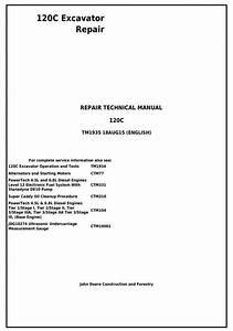 John Deere 120c Excavator Service Repair Manual  Tm1935