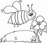 Coloring Bee Bumble Pages Bumblebee Outline Colour Templates Colouring Cartoon Template Honey Clipart Beehive Getcoloringpages sketch template
