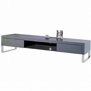 Meuble Tv Gris Laqué : meuble tv en bois gris laqu epura achat vente meuble tv meuble tv en bois gris laqu ~ Teatrodelosmanantiales.com Idées de Décoration