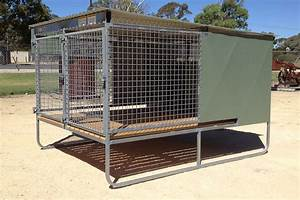 Fully welded dog kennels lucindale engineering south for Steel dog kennels and runs