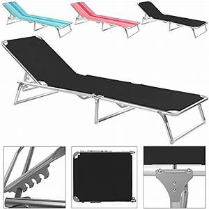 Chaise Longue Bain De Soleil : chaise longue pliable noir bleu rose transat bain de ~ Dailycaller-alerts.com Idées de Décoration