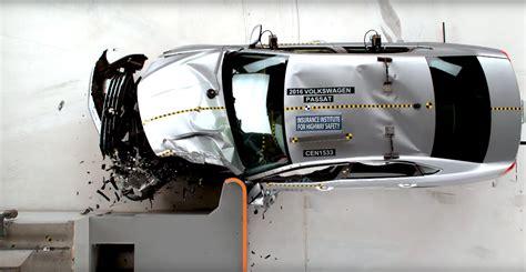 volkswagen passat small overlap iihs crash test