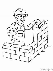 Builder Coloring Page Coloring Pages