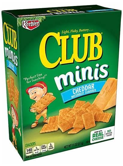 Crackers Cheddar Club Butter Minis Keebler Peanut