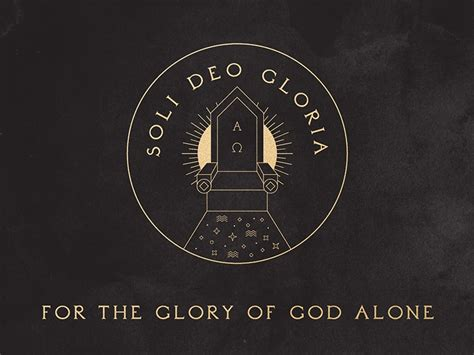 Soli Deo Gloria - 5 Solas of the Protestant Reformation by ...