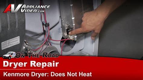 kenmore dryer repair   heat  youtube