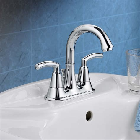 Bathroom Sink With 2 Faucets by Tropic 2 Handle 4 Inch Centerset High Arc Bathroom Faucet