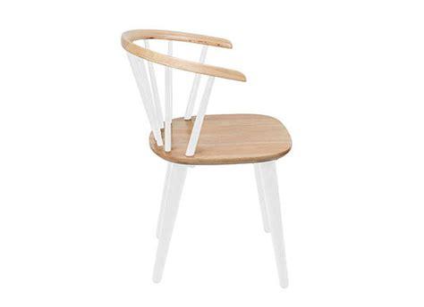 chaise design en bois blanc jiz