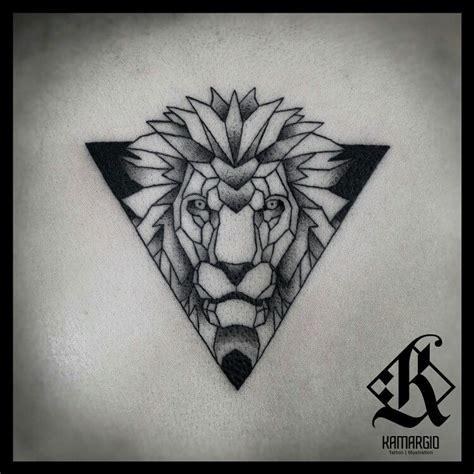 lion geometric animal geometry main pinterest