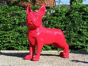 Statue Animaux Design : bulldog g ant monochrome 155 x 140 cm animaux en r sine ~ Teatrodelosmanantiales.com Idées de Décoration