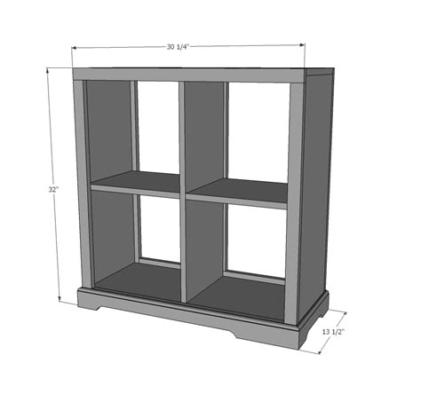 ana white  cubby bookshelf  nightstand diy projects