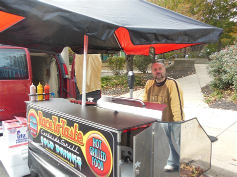 hot dog cart opens  fayette street morethanthecurve