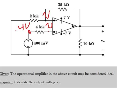 Circuit Analysis Operational Amplifier Calculating