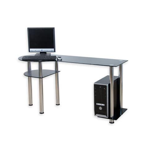 bureau ordinateur en verre bureau d ordinateur en verre noir 145 x 60 x 72 cm