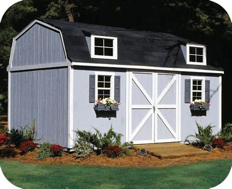 Storage Shed Floor by Handy Home Berkley 10x18 Wood Storage Shed W Floor 18424 6