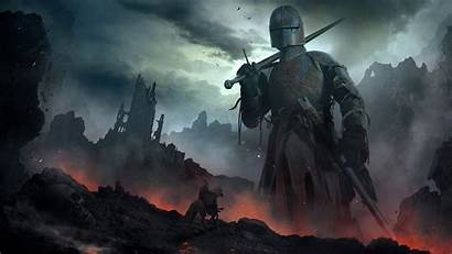 Knight Fantasy Artwork Giant Warrior Wallpapers Cross