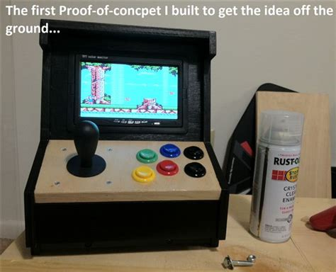 Diy Arcade Cabinet Raspberry Pi by Build Your Own Mini Arcade Cabinet With Raspberry Pi