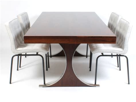 ensemble table et chaise galerie alexandre guillemain artefact design rené jean caillette dining table in rosewood