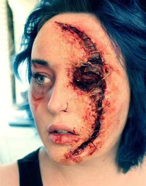 horrifying halloween makeup illusions
