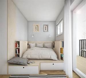 Schlafzimmer In Weiß Einrichten : kleines schlafzimmer einrichten 25 ideen f r raumplanung ~ Michelbontemps.com Haus und Dekorationen