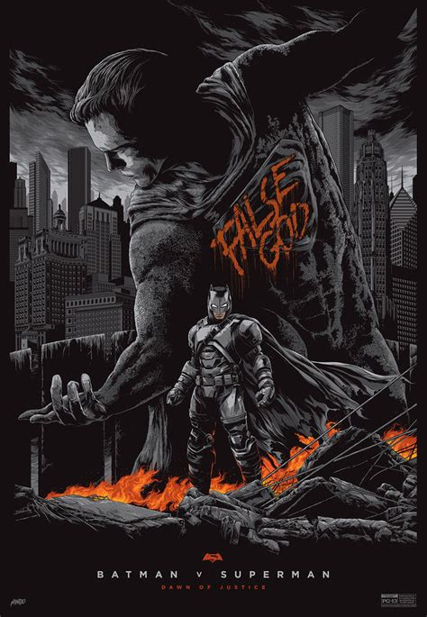 Batman V Superman Mondo Posters Batman & The False God