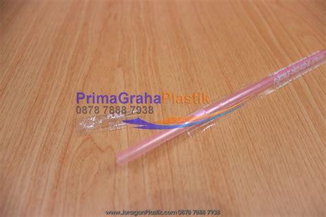 sedotan tekuk salur pink quot cover plastik satuan quot hygienis