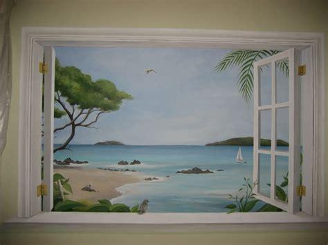 Trompe L'Oeil Window Murals