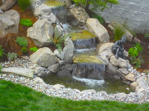 backyard pond ideas  waterfall easy backyard
