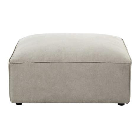 pouf per divano beige modulabile in tessuto malo maisons du monde